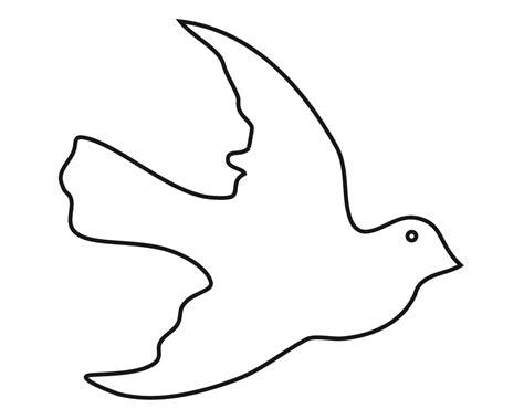 Silueta de paloma - Dibujalia - Dibujos para colorear ...