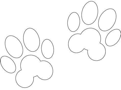Silueta: Huellas de Perro - Contorno y silueta vector