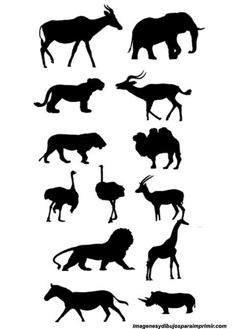 Siluetas de animales para imprimir | Imagenes y dibujos ...
