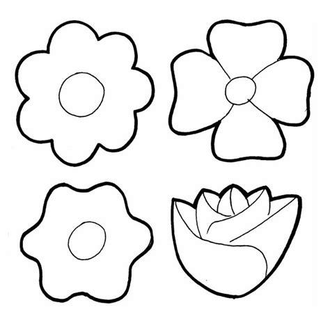 Siluetas de flores para colorear