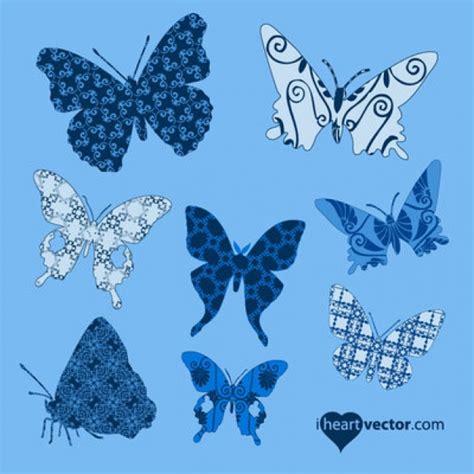 Siluetas de mariposas con varios patrones | Descargar ...