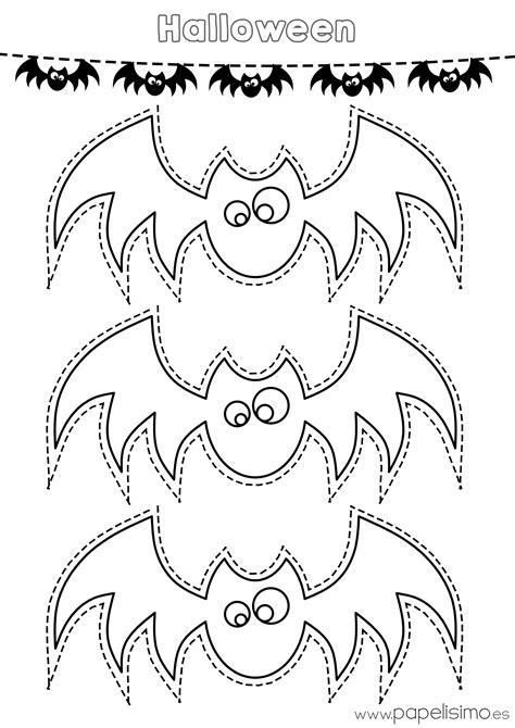 Siluetas de murciélagos para colorear y recortar   PAPELISIMO