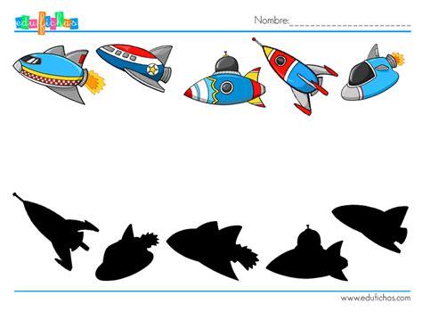 Siluetas espaciales   Fichas de actividades para niños