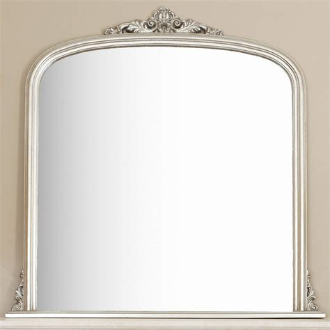 silver overmantel mirror by decorative mirrors online ...