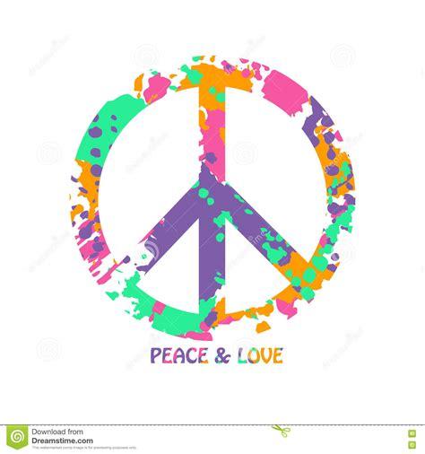 Símbolo Colorido Del Hippie De La Paz Y Del Amor ...