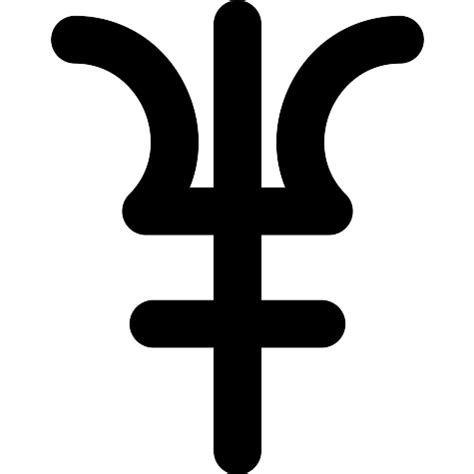 Símbolo de Neptuno   Iconos gratis de formas