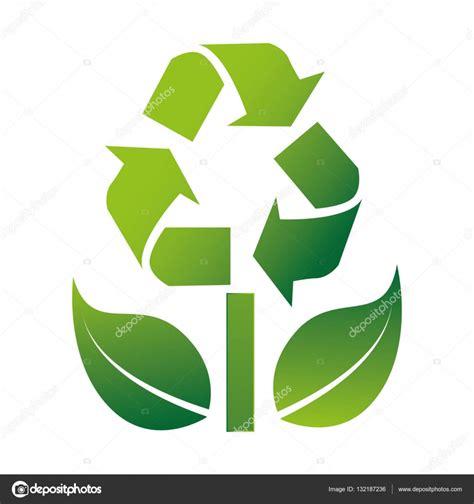 símbolo de reciclaje con flechas — Vector de stock ...