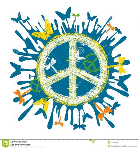 Simbolo di pace del Hippie illustrazione vettoriale ...