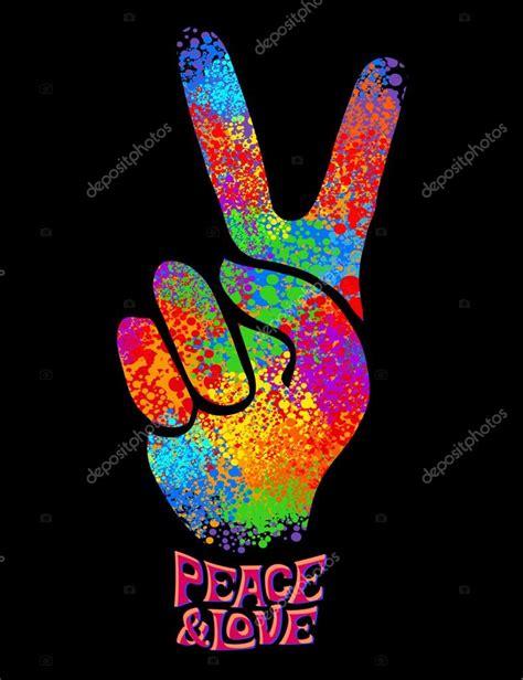 Símbolo hippie retro — Vector de stock © YulianaS #94369958