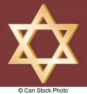 Símbolo, judaísmo. Dorado, estrella, fe, símbolo judío ...