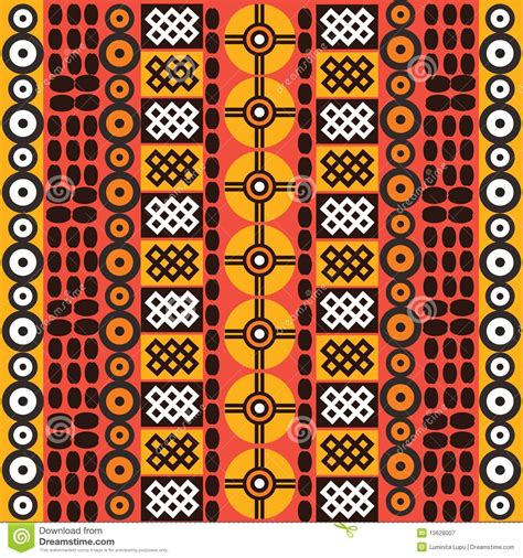 Símbolos Africanos étnicos Fotografía de archivo libre de ...