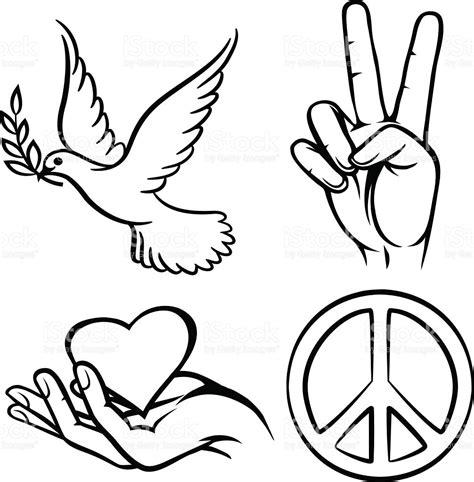Símbolos De La Paz   Arte vectorial de stock y más ...