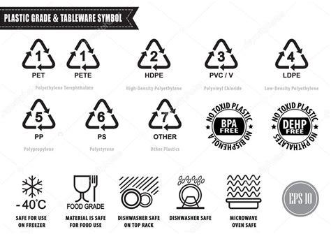 Símbolos de reciclaje de plástico — Archivo Imágenes ...