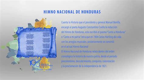 Símbolos patrios Himno Nacional de honduras - YouTube