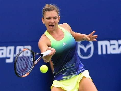 Simona Halep Practices with Steffi Graf and Andre Agassi ...