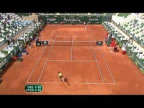Simona Halep vs. Flavia Pennetta  1st set highlights ...