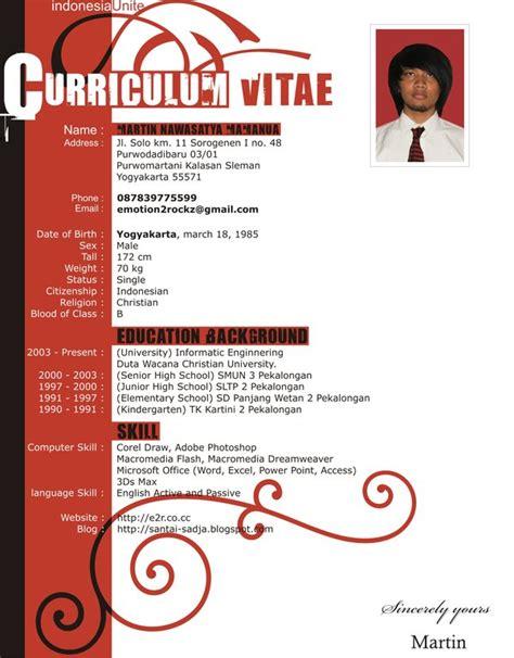 simple curriculum vitae by emotion2rockz on DeviantArt