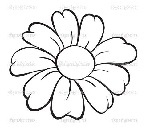 Simple Flower Line Drawing at GetDrawings.com | Free for ...