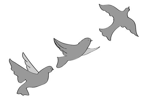 Simple Flying Birds Drawing | www.imgkid.com - The Image ...