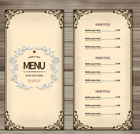 Simple Restaurant Menu Design Vector [AI]