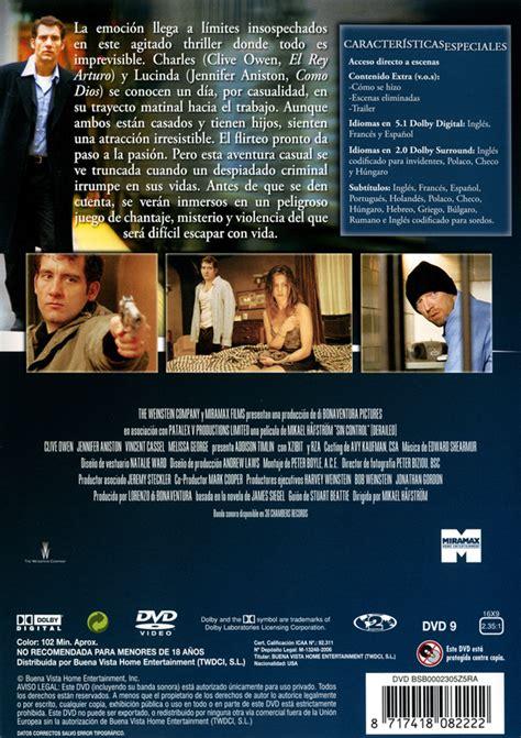 Sin control  Derailed   Carátula DVD    index dvd.com ...