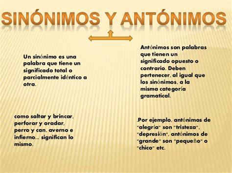 SINONIMOS Y ANTONIMOS BUENA
