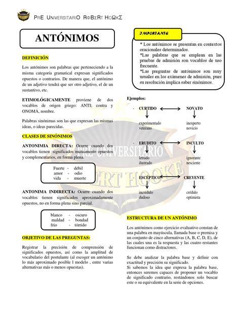Sinónimos y Antónimos by Carlos Salgado   issuu