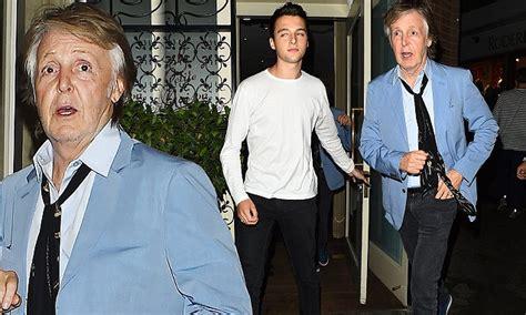 Sir Paul McCartney looks chic in a jacket as he enjoys ...