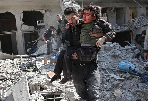 Siria, Assad ha ripreso a bombardare i civili a Ghouta ...