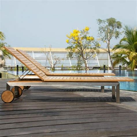 Siro Teak and Stainless Steel Outdoor Chaise Lounge Chair ...