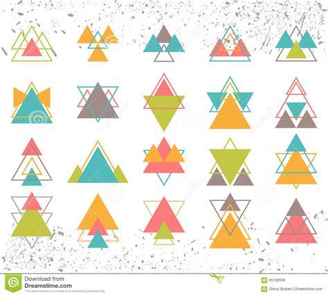 Sistema De Los Triángulos Geométricos Coloreados De Las ...