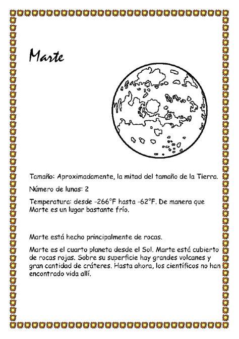 Sistema solar y los planetas para Educación Infantil