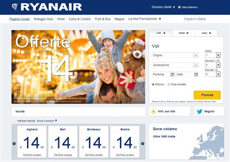 Sito ufficiale Ryanair: nuovo design e prenotazioni veloci ...