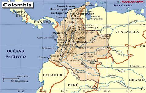 SITUACIÓN GEOGRÁFICA DE COLOMBIA - Colombiamania.com