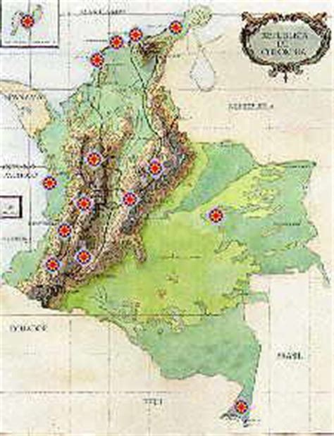 Situacion geografica y politica de Colombia