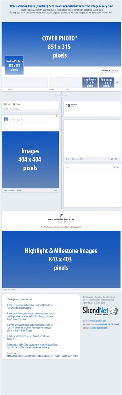 Size of FB Timeline Cover and Profile Photo