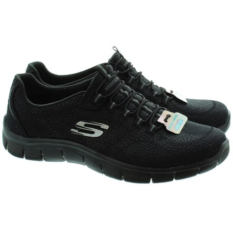 skechers black sneakers - 28 images - skechers 23412 lace ...