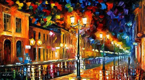 SLEEPING CITY — PALETTE KNIFE Oil Painting On Canvas By ...