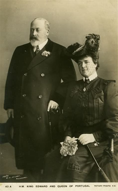SM a Rainha D. Amélia de Portugal e o Rei D. Eduardo VII ...