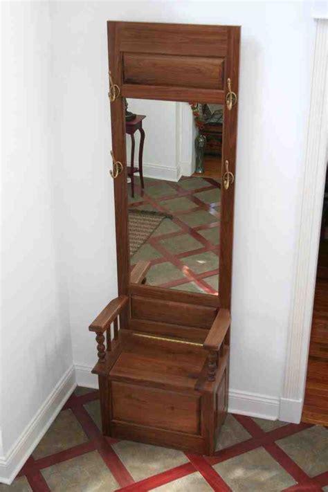 Small Hall Tree Storage Bench - Home Furniture Design