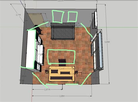 small square room   diffusors/reflections/absorption Xx ...