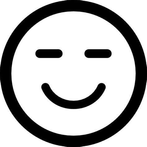 Smiling emoticon square face with closed eyes Icons | Free ...