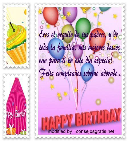 sms de cumpleaños para mi sobrino,dedicatorias de ...