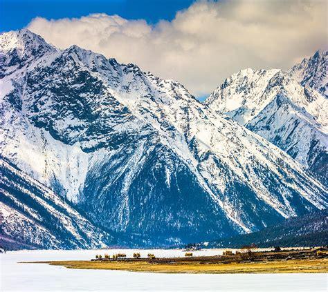 Snowy Mountains By Ranwu Lake, Tibet China Photograph by ...