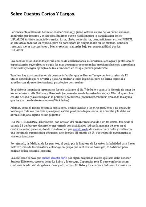 Sobre Cuentos Cortos Y Largos.