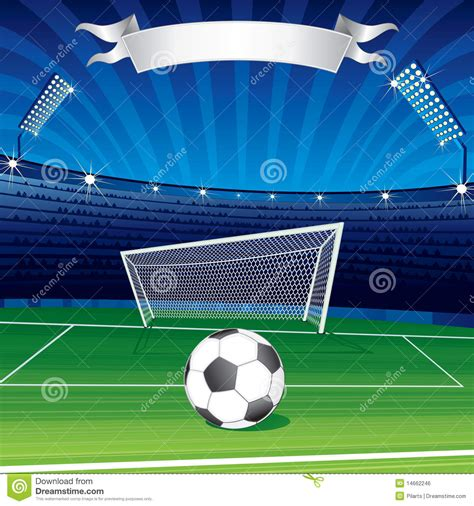 Soccer Ball In Stadium Royalty Free Stock Image - Image ...