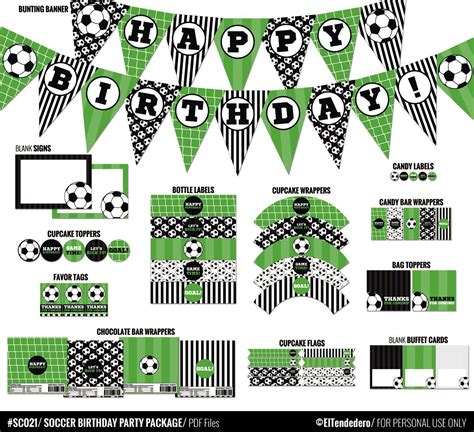 Soccer Birthday Party Decorations Package. Printable ...