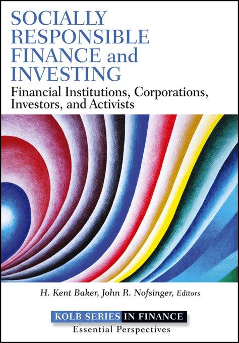 Socially responsible finance and investing | Open Library