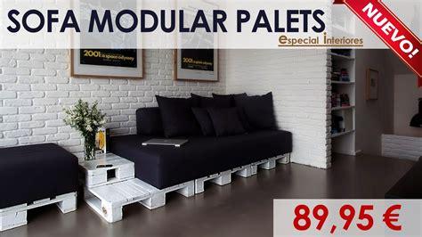 Sofá Modular Interior Blanco de Palets - PaletsOnline.com