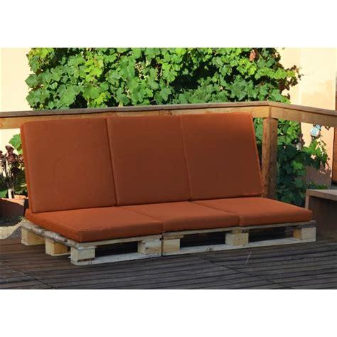 Sofa palet de 3 plazas con cojín para exterior | CasayTextil